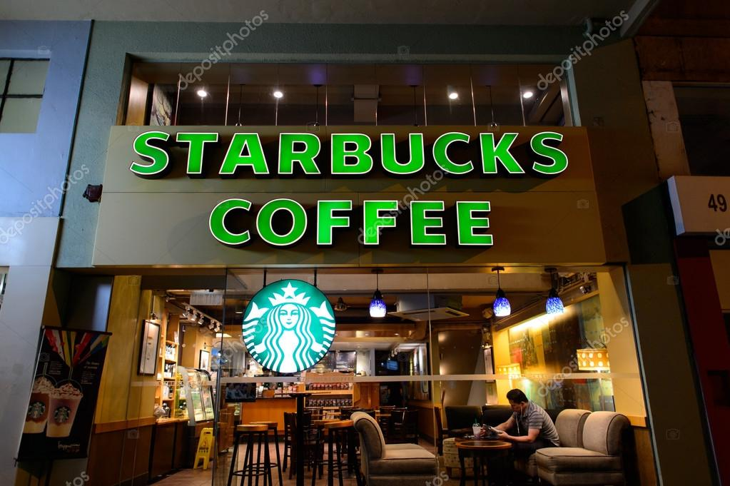 星巴克咖啡在美国_星巴克咖啡咖啡馆 — 图库社论照片 © teamtime #93758330