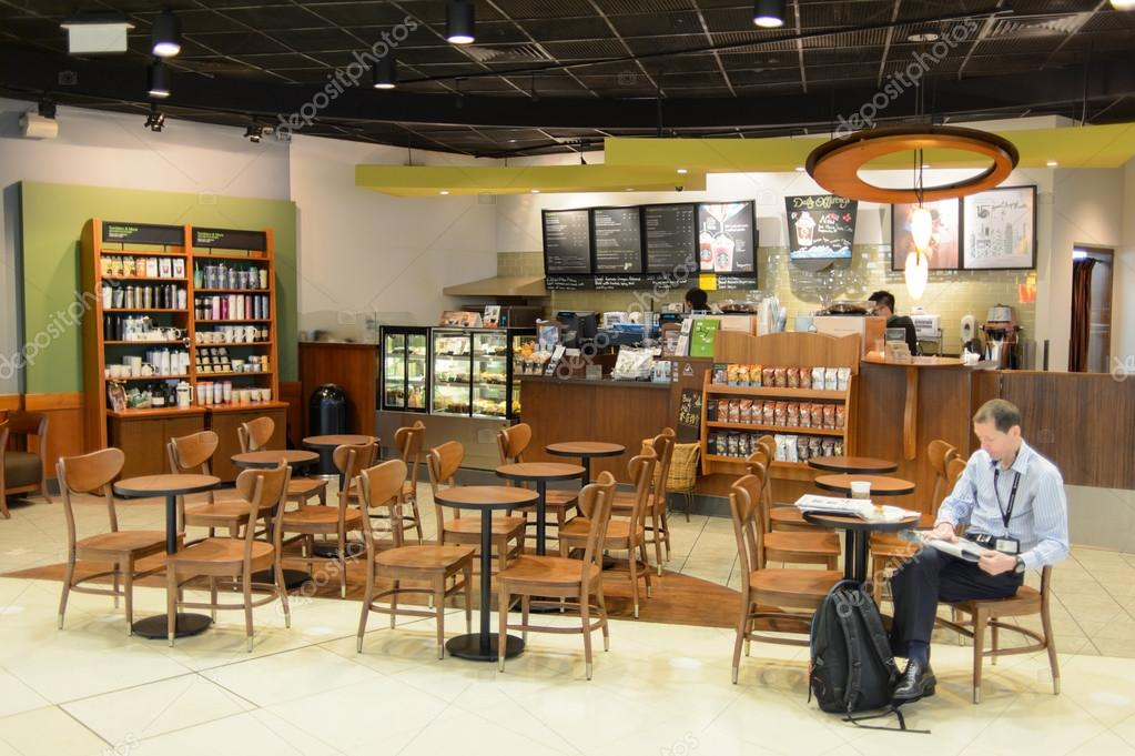 starbucks cafe interieur stockfoto
