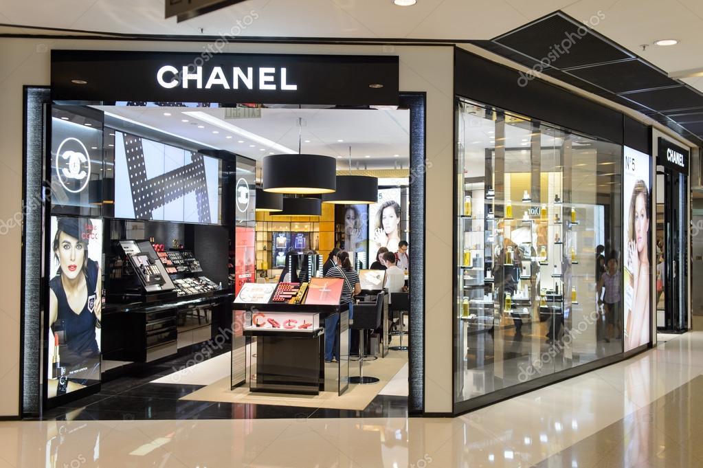 Chanel Cosmetics Boutique Interior Stock Editorial Photo