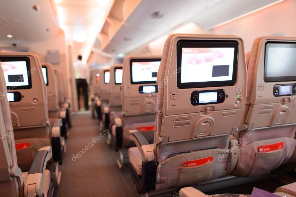 Emirates Airbus A380 aircraft interior – Stock Editorial Photo ...