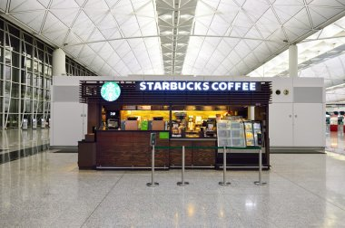 Starbucks cafe in Airport