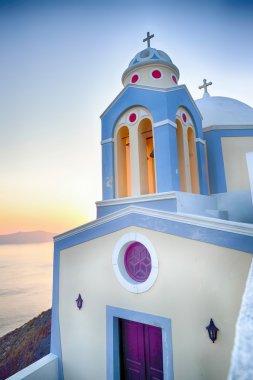 Orthodox Church building on Santorini