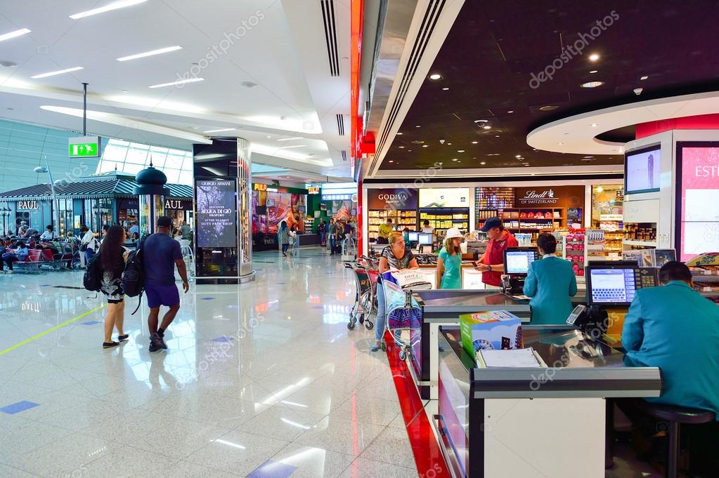 The Dubai Duty Free Shopping Area Interior Stock Editorial Photo