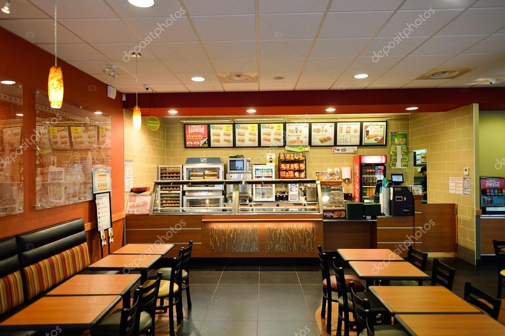 Subway fast food restaurant stock editorial photo