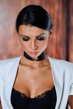brunette Woman in lingerie