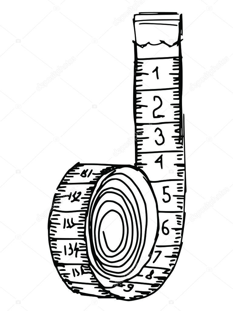 Resultado de imagen para dibujo de una cinta metrica