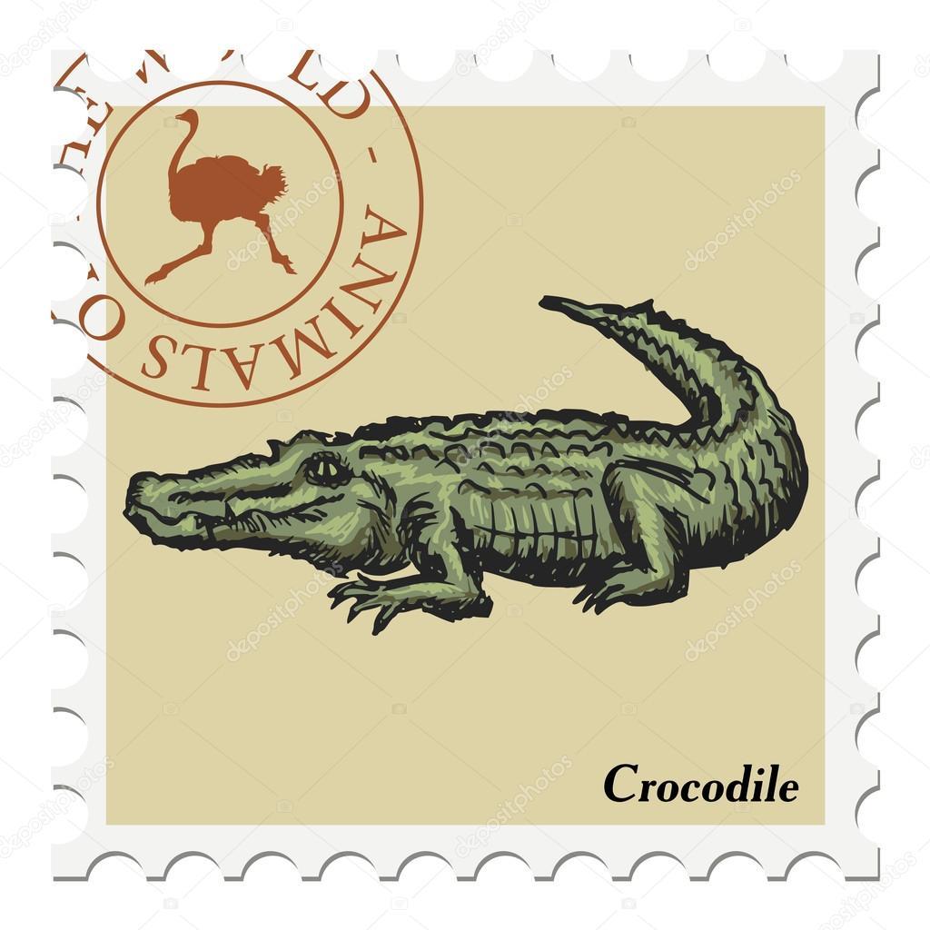 Марка крокодил старинная русская серебряная монета 6 букв