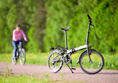 Bike on the road in the park