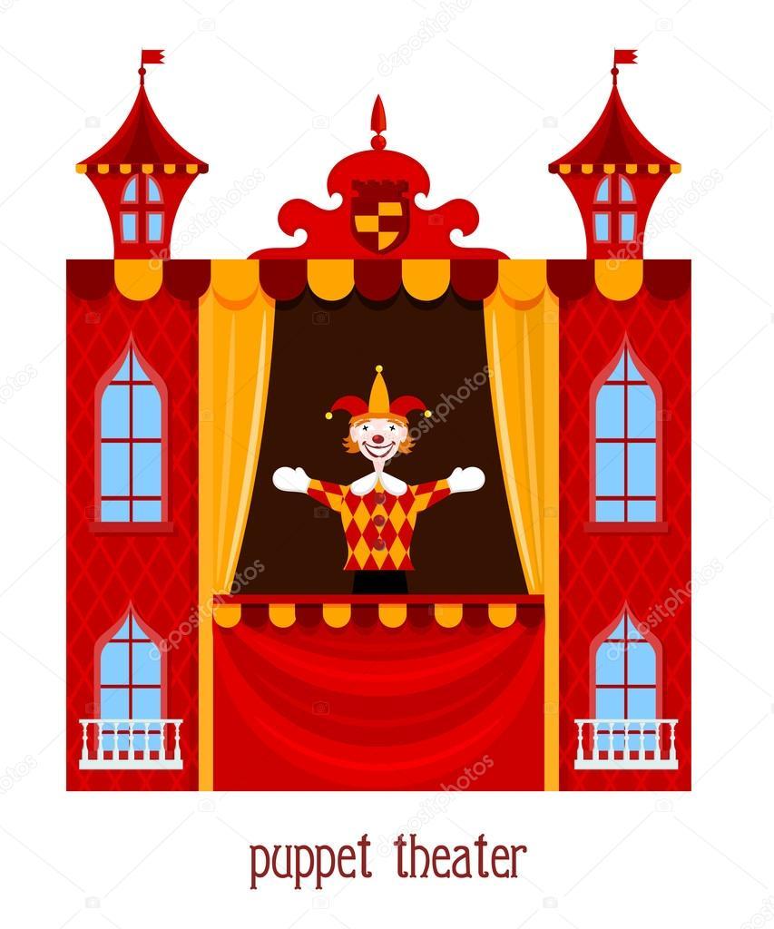 Spettacolo di burattini illustrazione del teatro delle for Scarica clipart