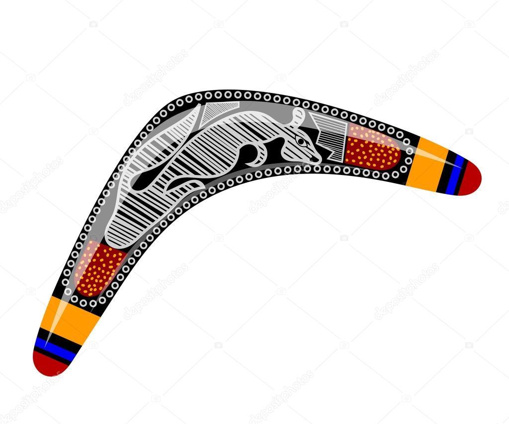Australischen Bumerang. Cartoon-Bumerang auf weißem Hintergrund. B ...
