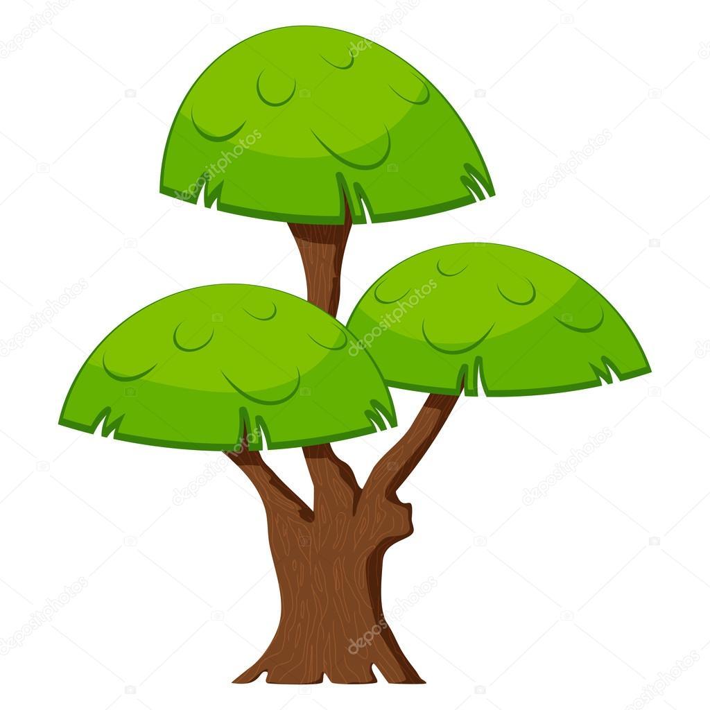Fondo Arboles Animados Sin árbol Verde De Dibujos Animados Sobre