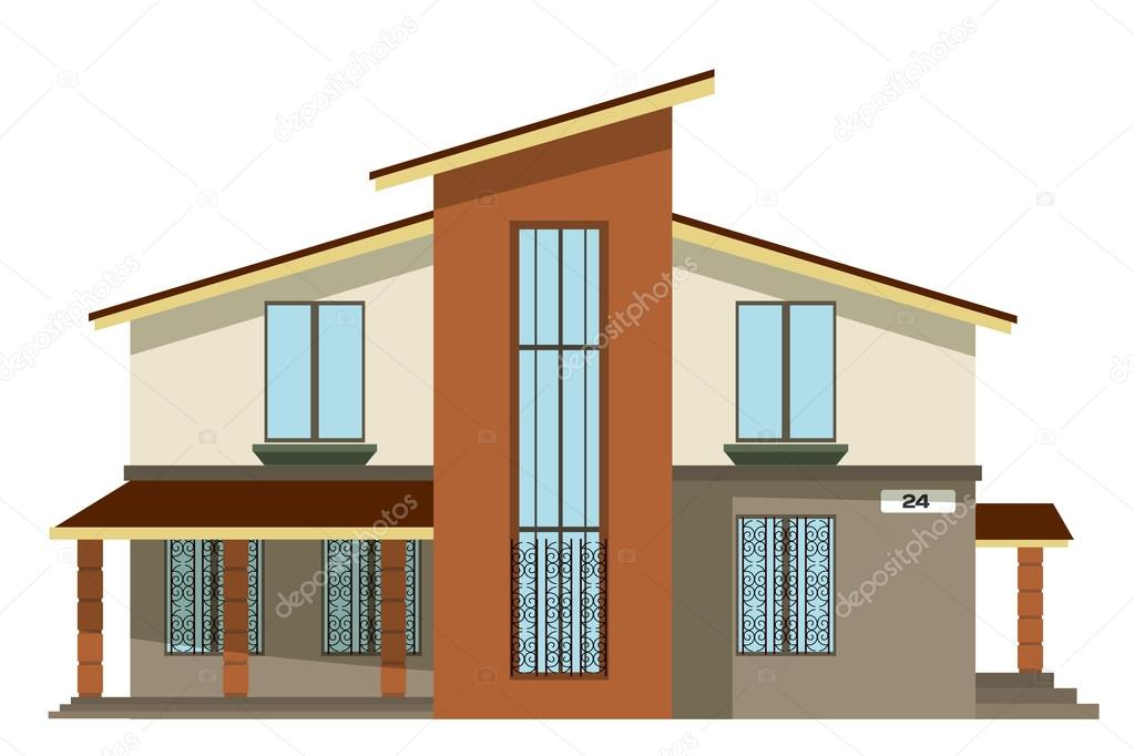 Casas de dos plantas modernas imagen de fachadas de casas for Plantas de viviendas modernas