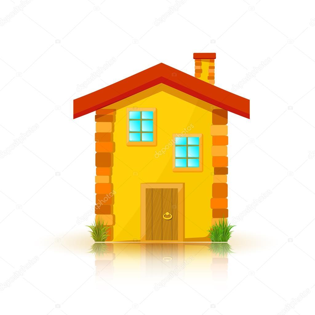 maison au toit rouge isole sur fond blanc dessin anime With toit de maison dessin 5 maison au toit rouge isole sur fond blanc dessin anime
