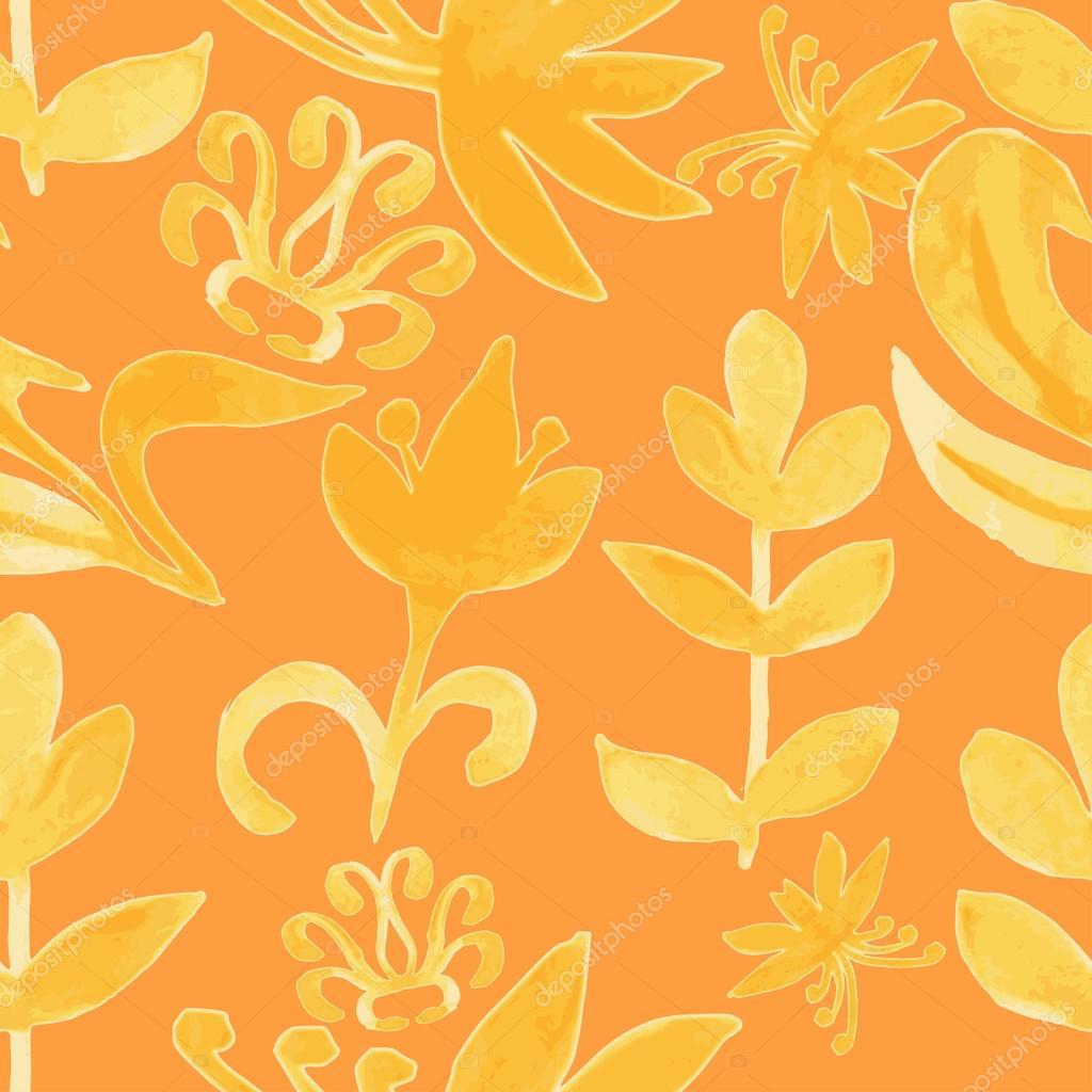 Watercolor pattern. Floral texture. Abstract floral background.