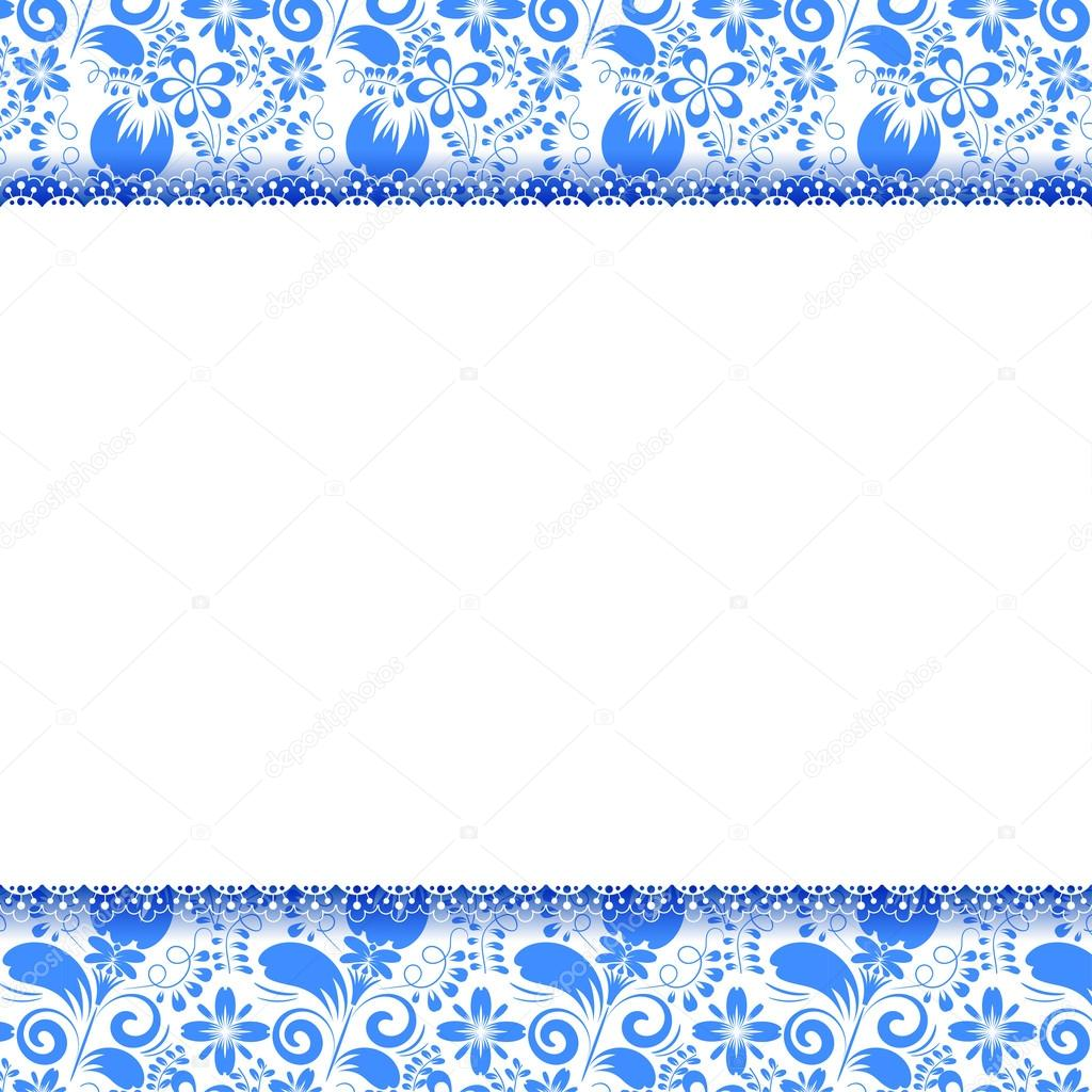 Bright openwork field for text and seamless floral background. G
