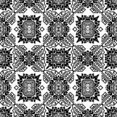 Varratmentes háttérben a fekete-fehér virág dísz törzsi