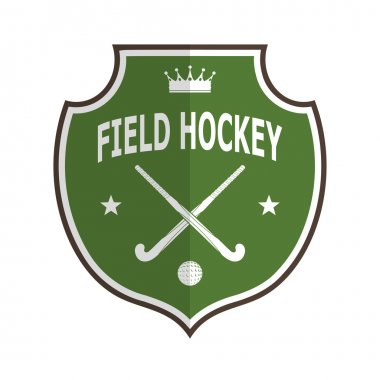 Green logo badge for the team field hockey on a white background
