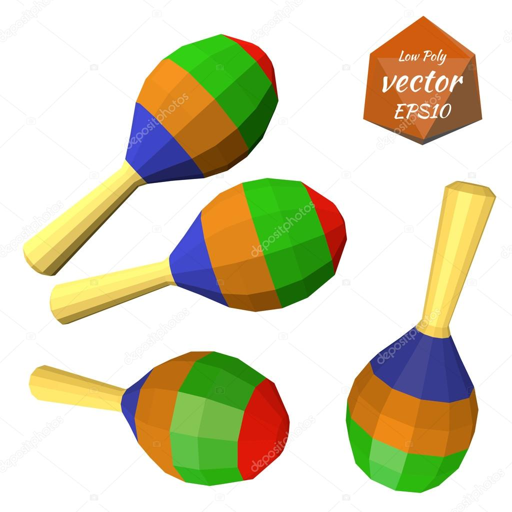 a set of colorful maracas isolated on white background musical
