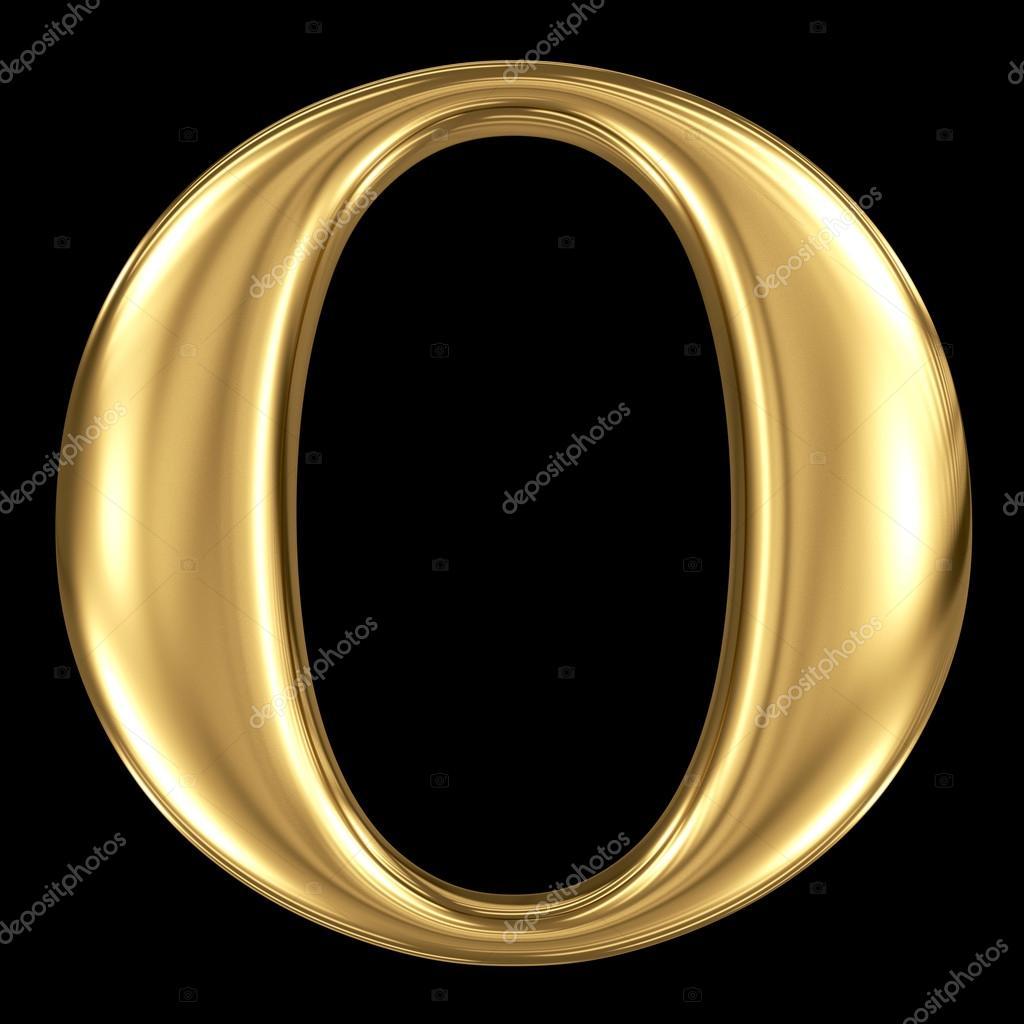 Golden 3d Symbol Capital Letter O Stock Photo Smaglov 54959231