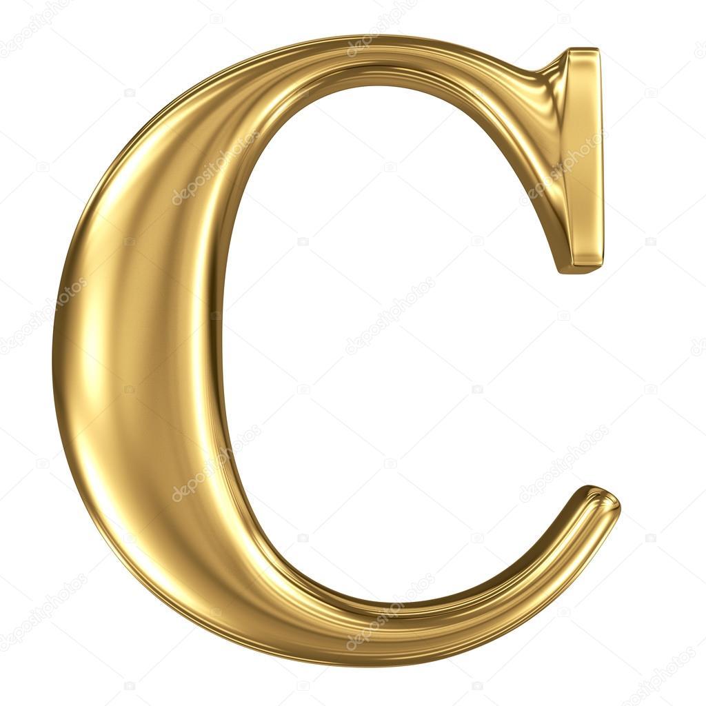 Letra dorada C 8