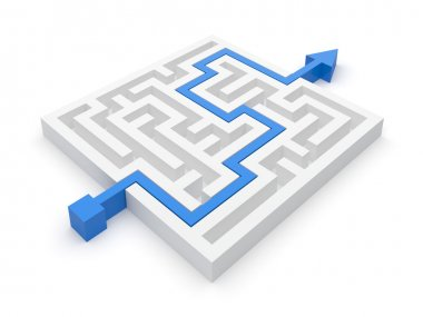 Maze puzzle seasy solution