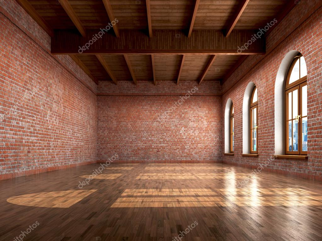 Vider la chambre avec une finition rustique dun intérieur