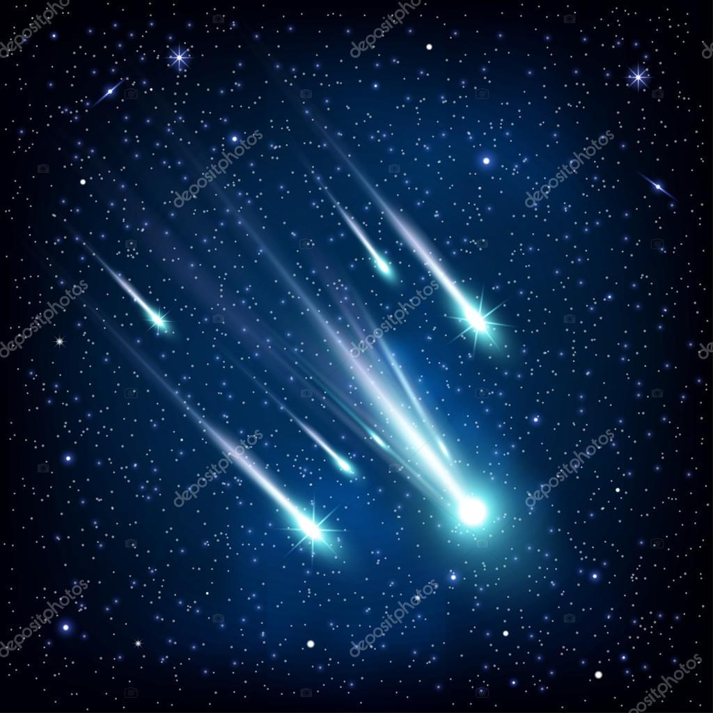 Картинки летящих комет звездный растаял