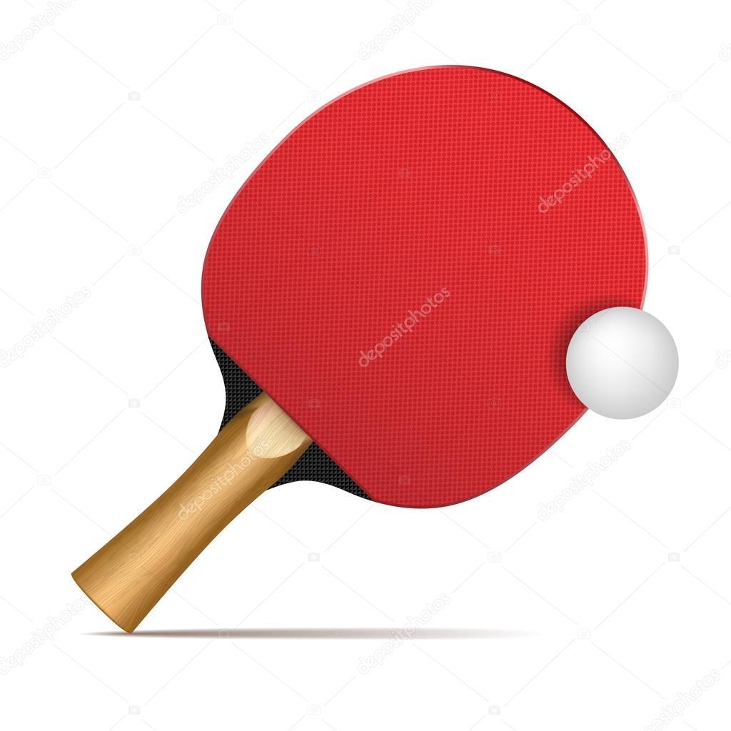 paletas de ping pong y bolas — Archivo Imágenes Vectoriales ...