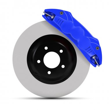 Automobile braking system. Aeration steel brake disk with perfor