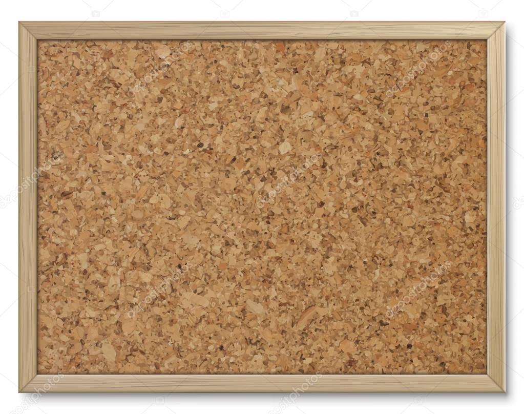 Kork-Board mit Holzrahmen — Stockvektor © urfingus #114056452
