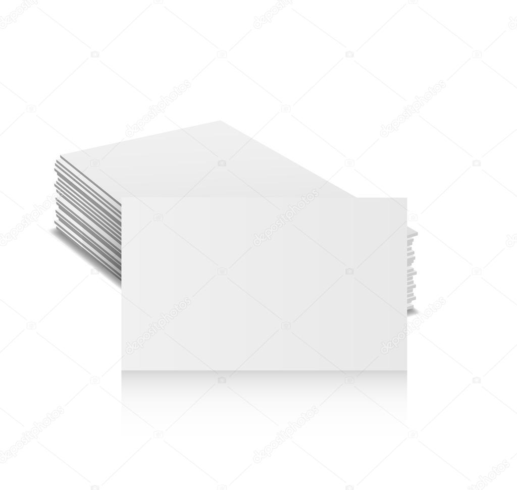 Business cards blank mock-up - template. Vector illustration — Stock ...