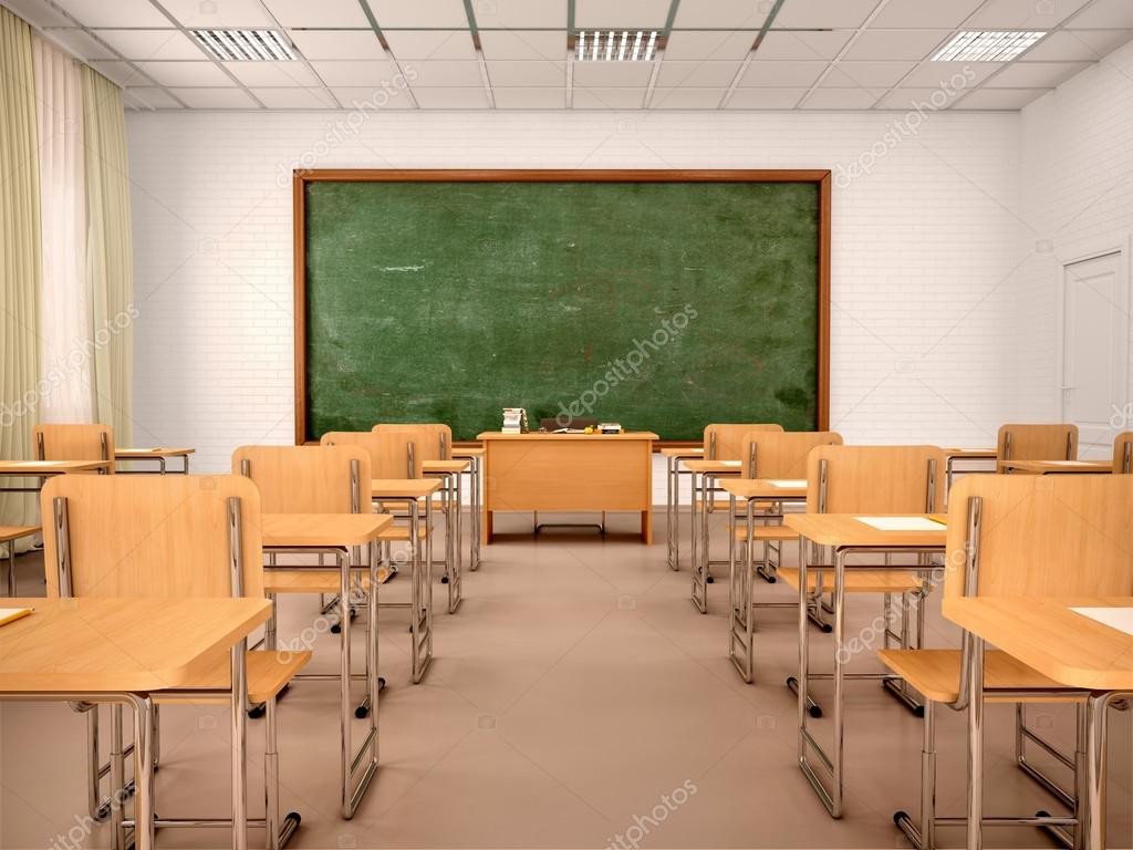 Bright Empty Classroom For Lessons And Training 3d Illustration Stock Photo