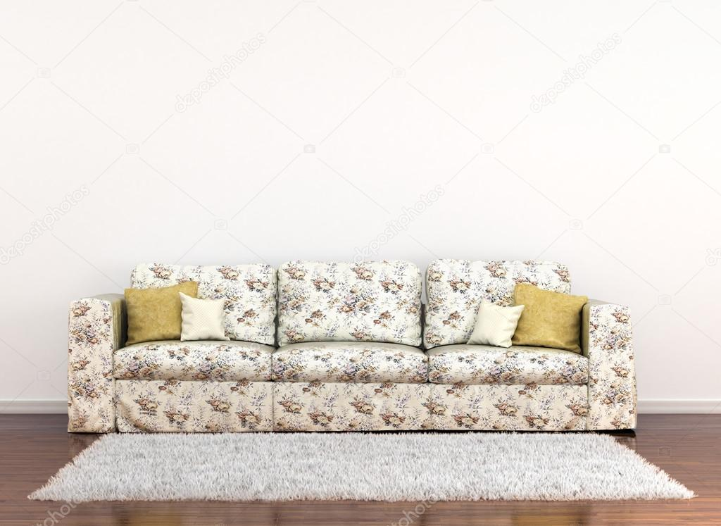 Pleasing Sofa In Floral Fabric On A Background Of White Walls And Gamerscity Chair Design For Home Gamerscityorg