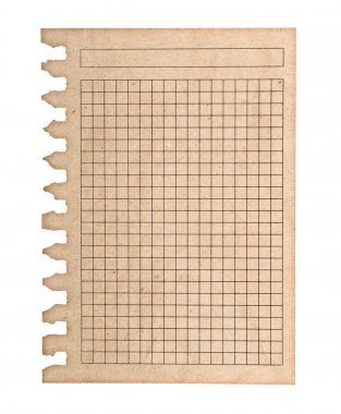 kraft paper page notebook. textured isolated on the white backgr