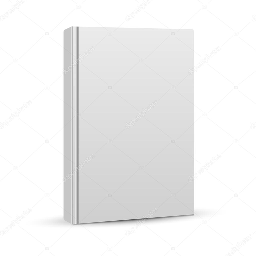 Book Cover Design Blank : Blank book cover vector illustration gradient mesh