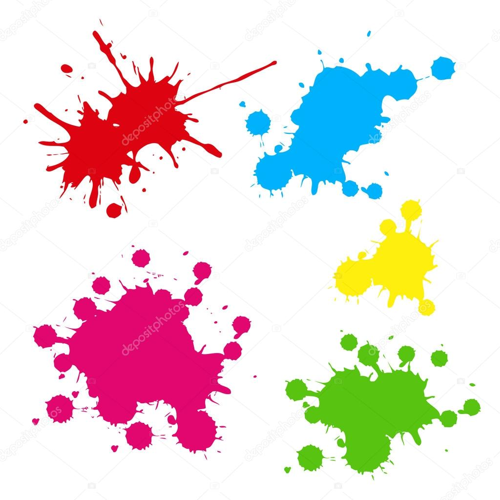 collection of colorful paint splash vector set of brush strokes rh depositphotos com paint splash vector art paint splash vector cdr