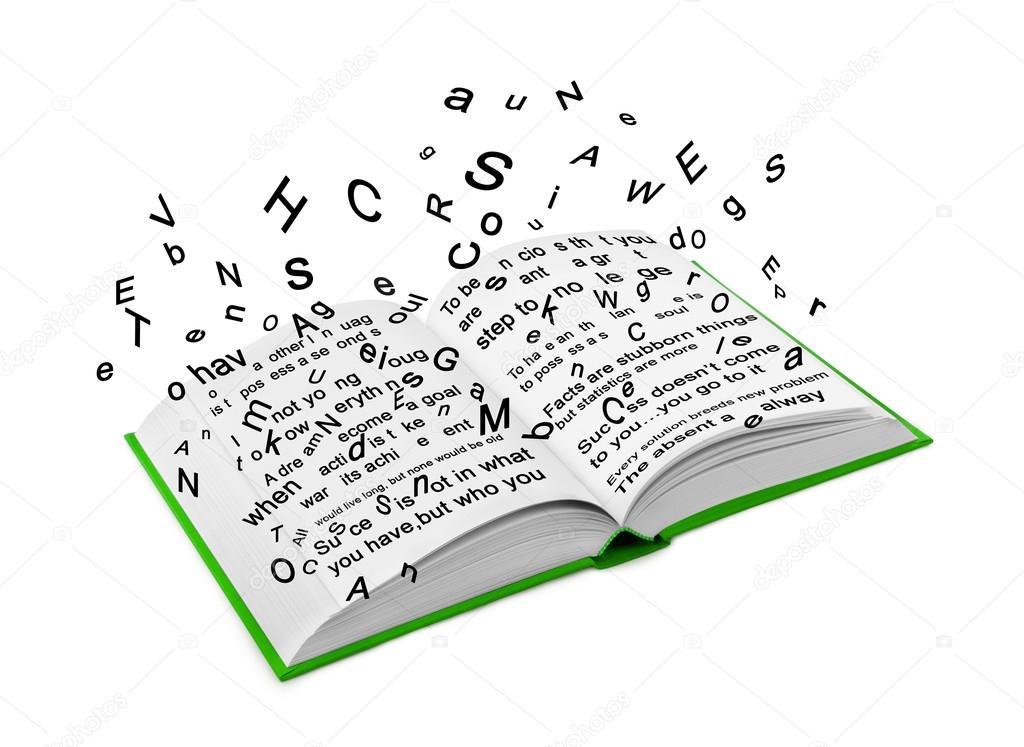 Resultado de imagen de libro abierto letras