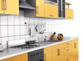Moderne Küche im Hintergrund thite