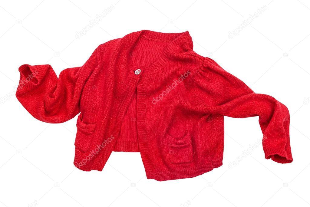 a169084b216b baby red jacket in motion on a white background isolated — Stock ...