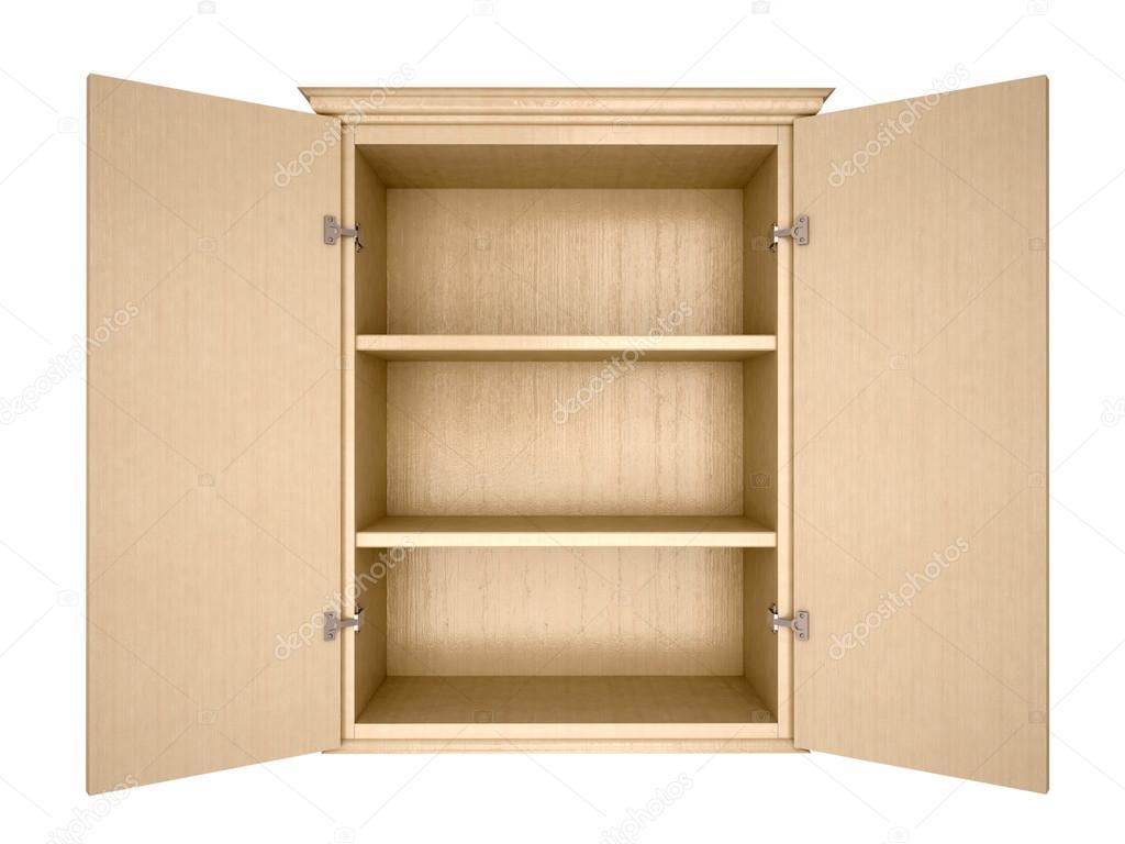 3d illustration d 39 armoire vide photographie urfingus. Black Bedroom Furniture Sets. Home Design Ideas