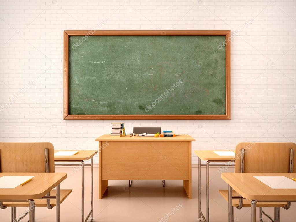 3d Illustration Of Bright Empty Classroom For Lessons And Traini Photo By Urfingus