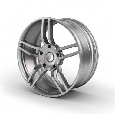 Car wheel, Car alloy rim on white background. Auto parts.