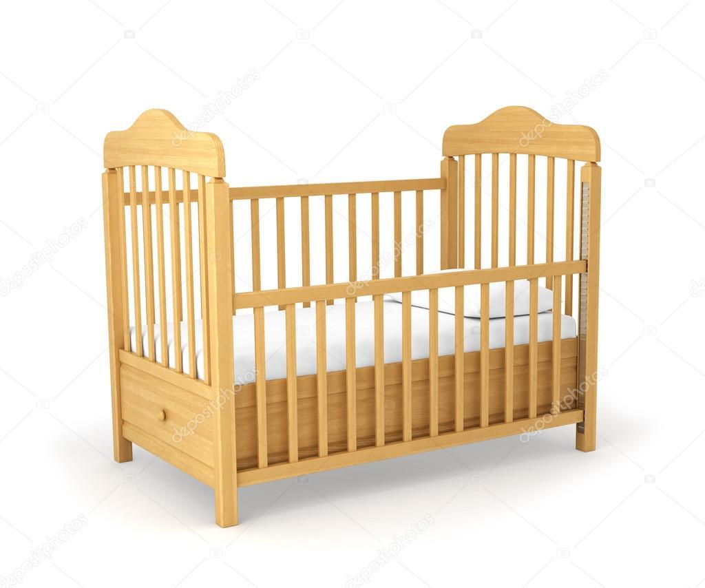 Cuna para bebé aislado en fondo blanco — Foto de stock © urfingus ...