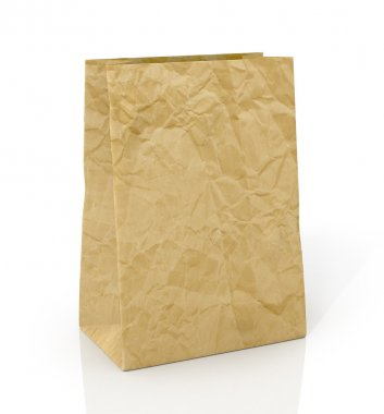 Paper bag on a white background
