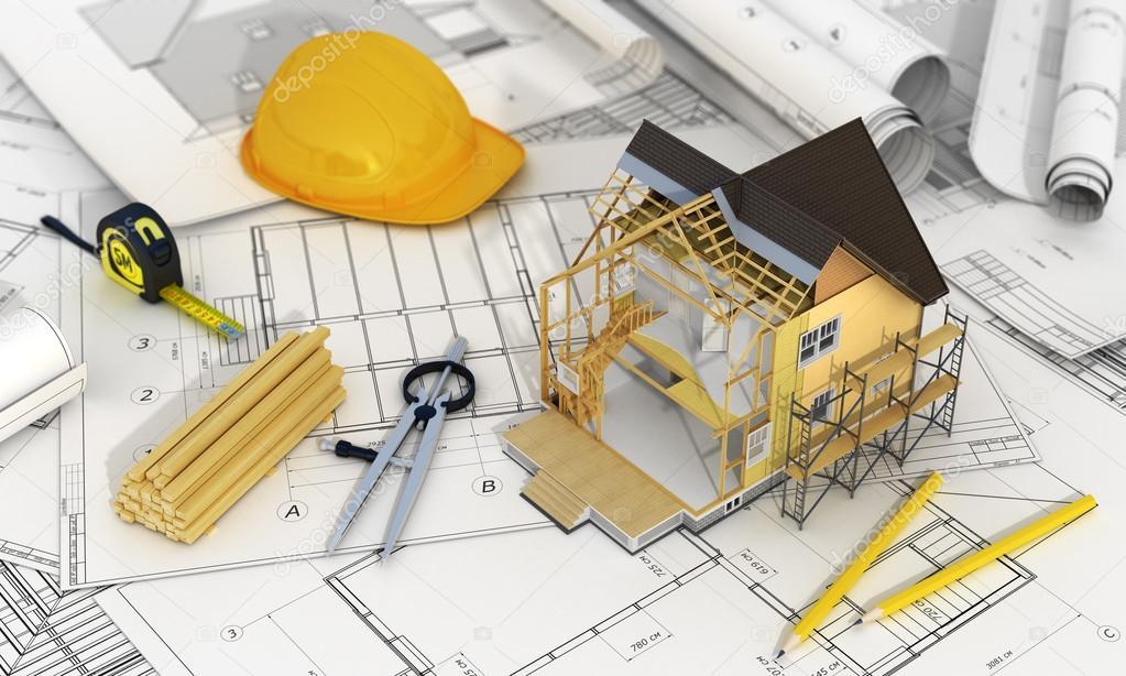 Concepto De Dise 241 O Construcci 243 N Y Arquitecto 3d Render