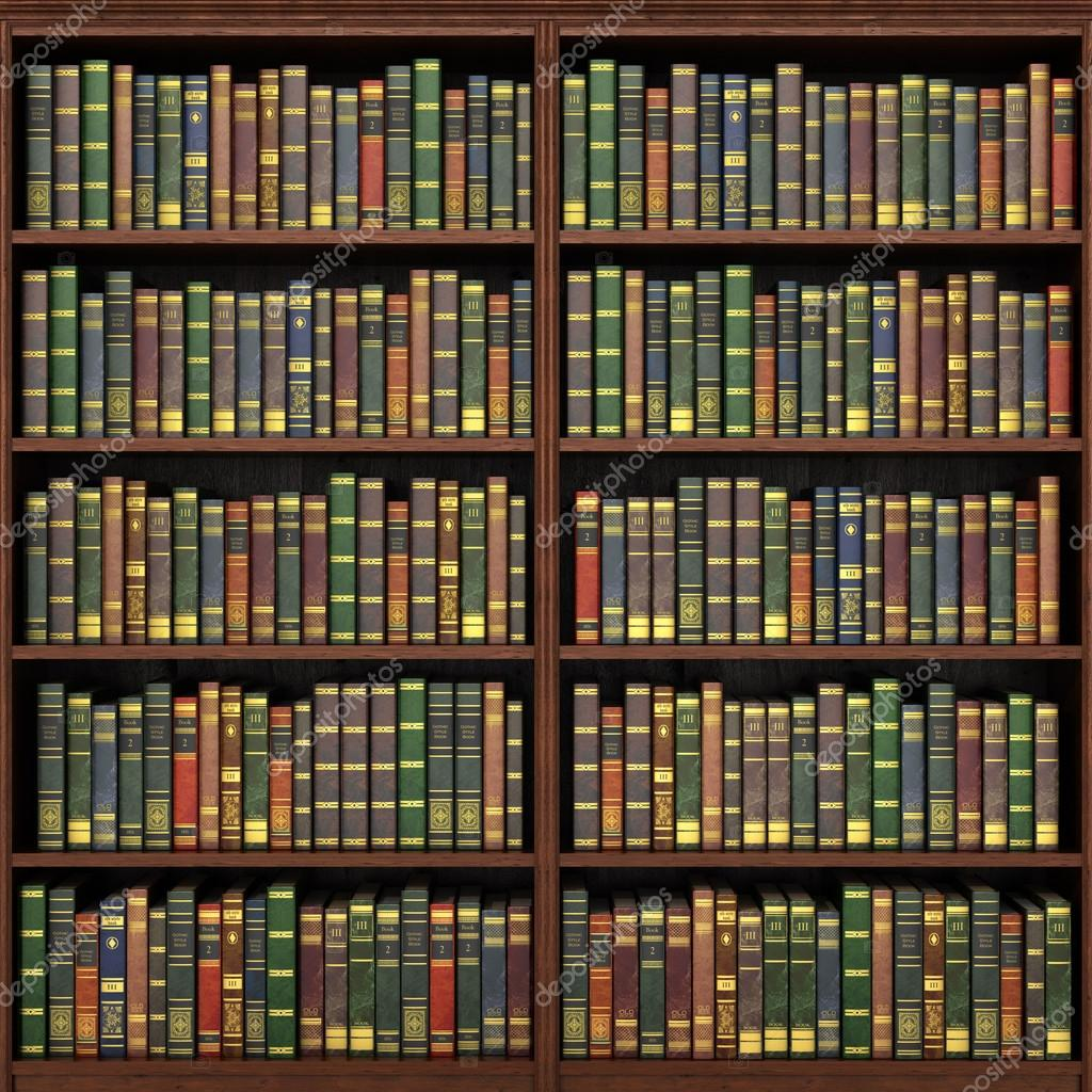 Bücherregal voller Bücher Hintergrund Alte Bibliothek  ~ Bücherregal Alt