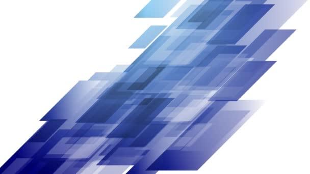 Modré tech geometrické tvary animace