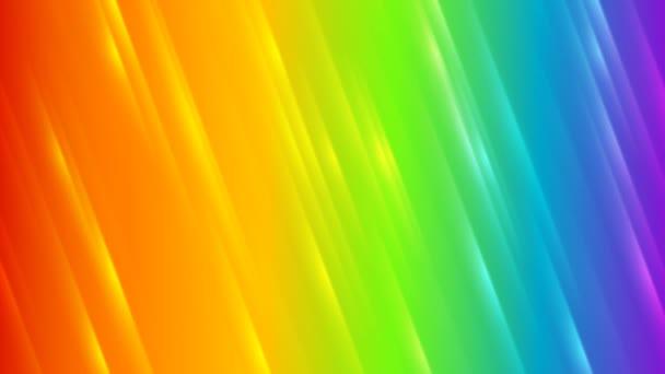 Abstraktní barevné duhy prokládané video animace