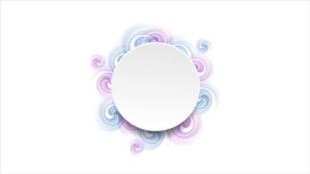 leerer Kreis und helle Strudel formen Videoanimation