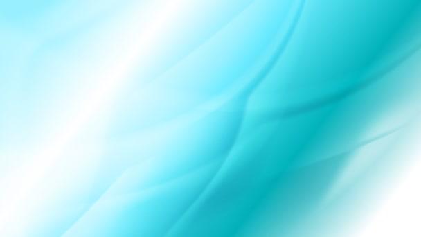 Světle tyrkysové pohybující vlny video animace